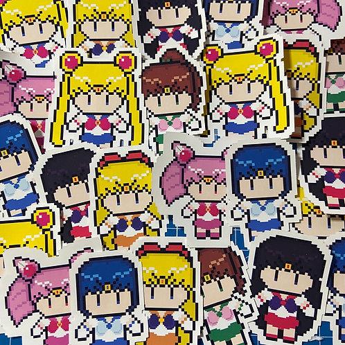 "Sailor Moon Matte Vinyl Sticker (2"")"