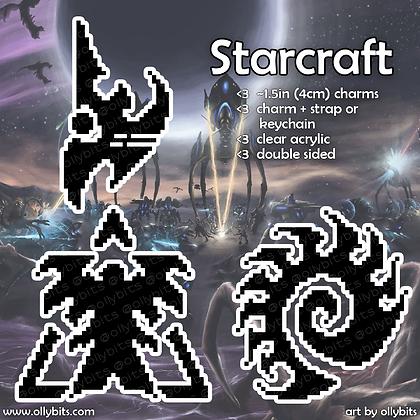 Starcraft Pixel Art Acrylic Charms