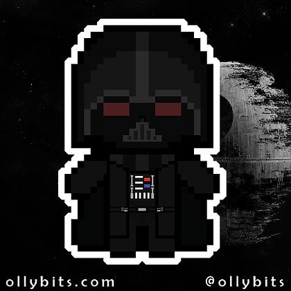 Star Wars Darth Vader Pixel Art Acrylic Charm