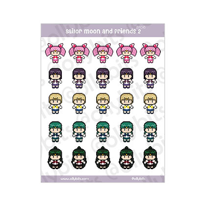 B106 - Sailor Moon And Friends 2 Sticker Sheet