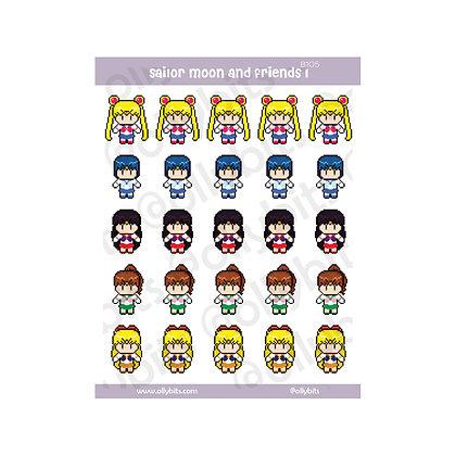 B105 - Sailor Moon And Friends 1 Sticker Sheet