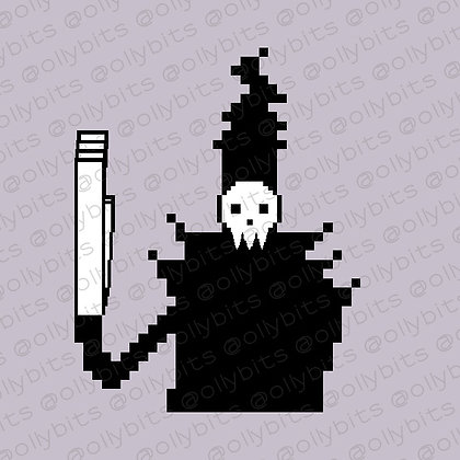 Soul Eater Lord Death Pixel Art Acrylic Charm