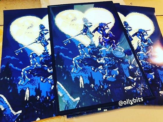 Kingdom Hearts Pixel Art 11x17 Poster