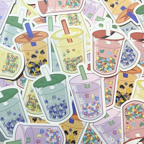 "I Love Boba & Anime 2"" Vinyl Stickers"