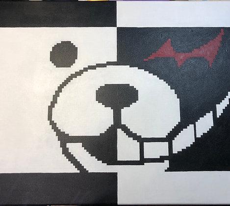 Monokuma Pixel Art Painting Original