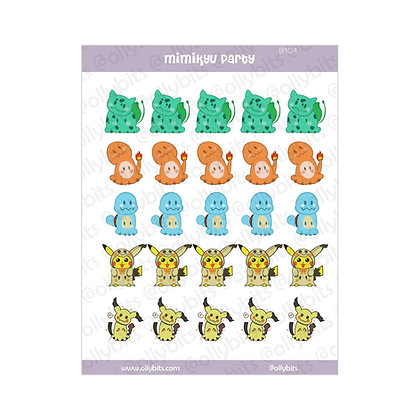 B104 - Mimikyu Party Sticker Sheet
