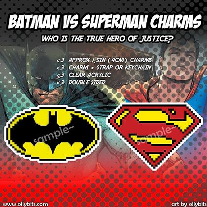 DC Comics/Marvel Pixel Art Acrylic Charms