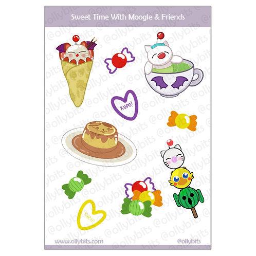 Sweet Time with Moogle & Friends Sticker Sheet