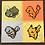 Thumbnail: Pokemon 1st Generation Starters Pixel Art Painting Original