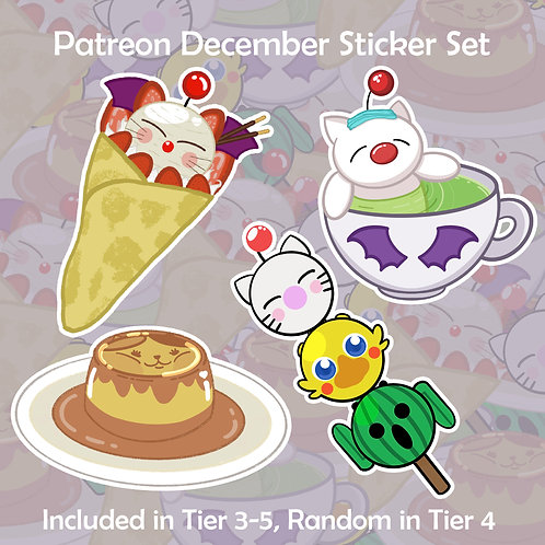 """Sweet Time with Moogle & Friends 2"""" Vinyl Stickers & Sheets"""
