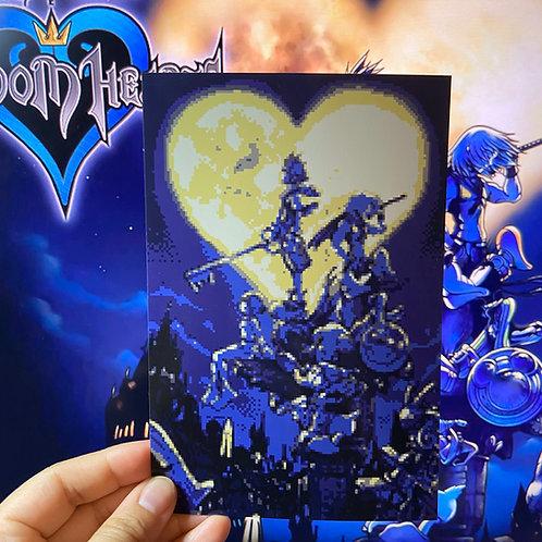 Kingdom Hearts 1 Cover Art Pixel Art 4x6 Print