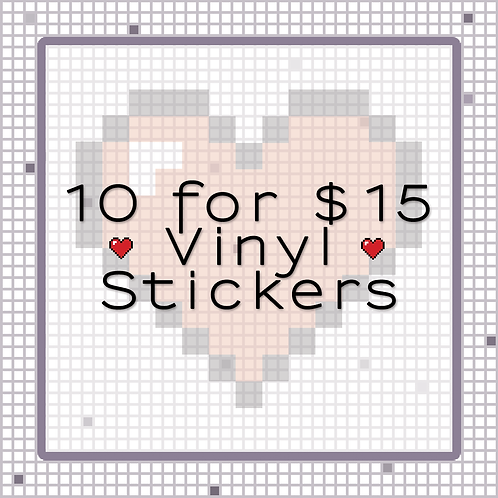10 For $15 Stickers