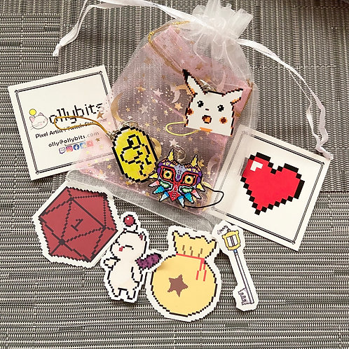 Video Game Mystery Bag (Charms & Stickers!)