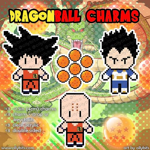 Dragon Ball Pixel Art Acrylic Charms