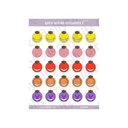 B109 - Koro-Sensei Emotions 1 Sticker Sheet