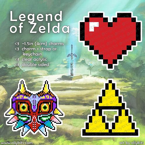 The Legend of Zelda Pixel Art Acrylic Charms