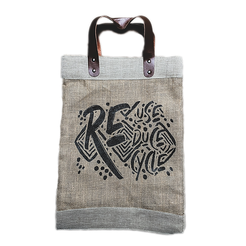 Jute Reuse Reduce Recycle Bag