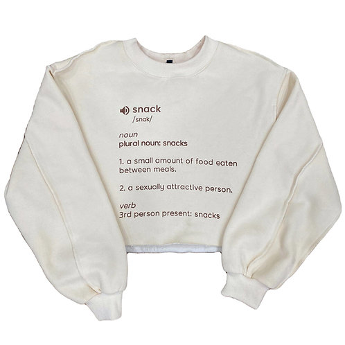 Pre-Order Snacks Crop Sweatshirt