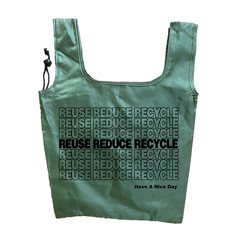 Reuse Reduce Recycle Grocery Bags - 3PACK