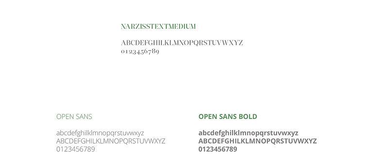 Fiorira una Festa tipography