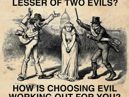 Get Ready: It's 'Lesser of Two Evils' Time