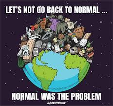 Let's Not Return to Normal