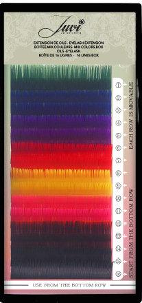 Cils  8 Couleurs / 8 Coloured Eyelashes