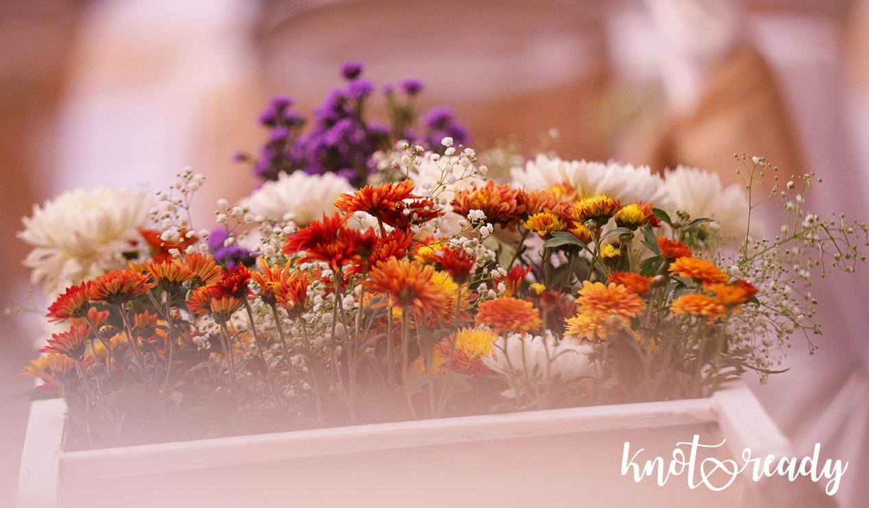 Wheel barrow full of flowers