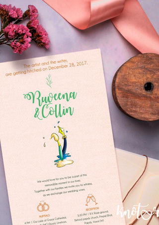 Personalized illustrated invite