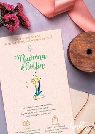 Personalized illustrated invite