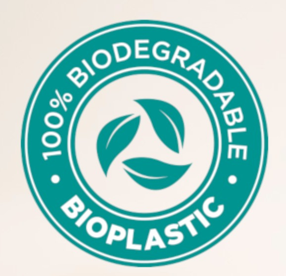 Our bottles and lids are 100% biodegradable plastic