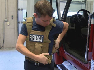 Midway Brings Body Armor to Firefighters