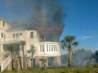 2nd Alarm Fire in Debordieu Colony