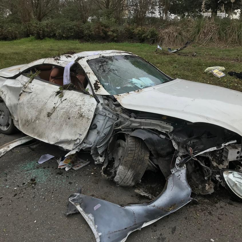 MVA at MLK car flipped back