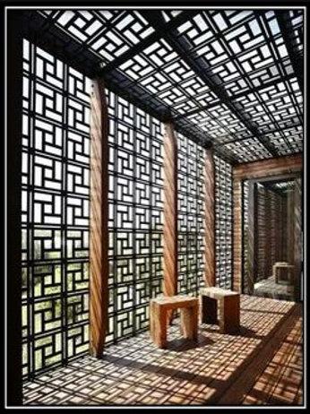 Out Door Walk Way Mashrabiya wall and ceiling (Supply & Fix) WF 02/A