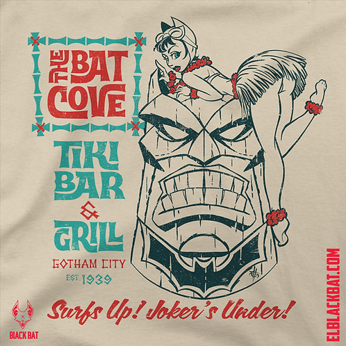 The Batcove Tiki Bar Vintage