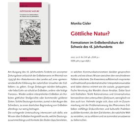 Göttliche Natur. Formationen im Erdbebendiskurs der Schweiz des 18. Jahrhunderts