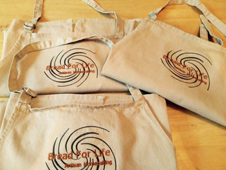 Our 100% Cotton Bakers Aprons on sale now!
