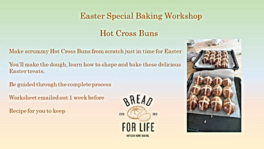 Online Easter Hot Cross Bun Workshop edi