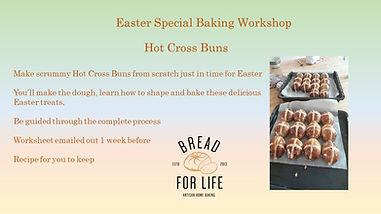 Online Easter Hot Cross Bun Workshop edi