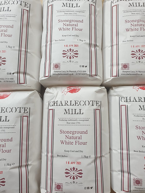 1.5kg bag Charlecote Mill Natural White Flour
