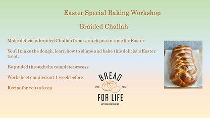 Online braided brioche challah Workshop