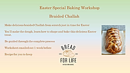 Online braided brioche challah Workshop