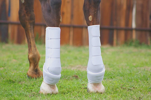 White Iconoclast Orthopedic hind boots TALL