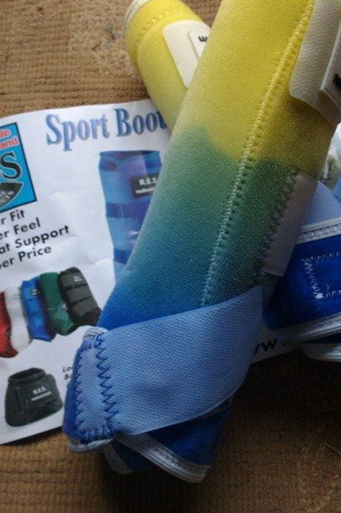 yellow/blue RES Ready to ship Dyed boots!