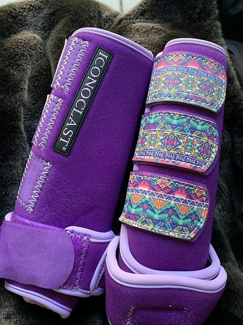 Front medium purple Aztec color tabs