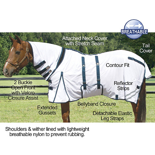 Fly sheet with bellyband and combo neck