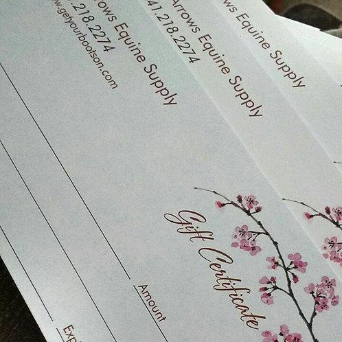 Seven Arrows Gift Certificate! $20