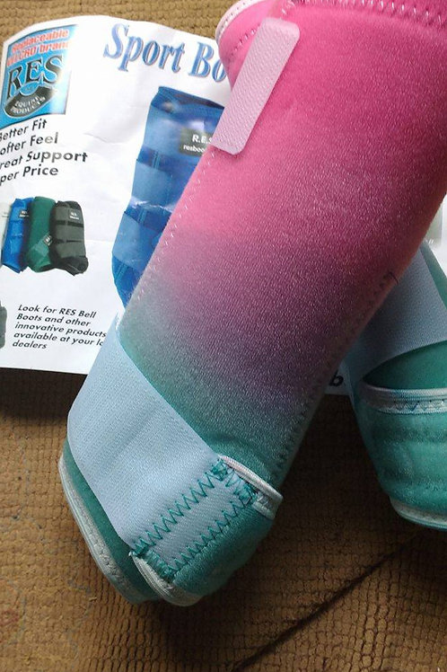 pink/teal RES Ready to ship Dyed boots!