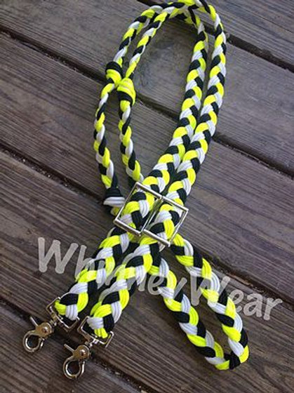 Yellow Black and white reins